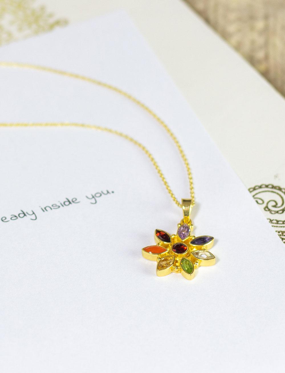 Chakra Kette Flower von Vedara