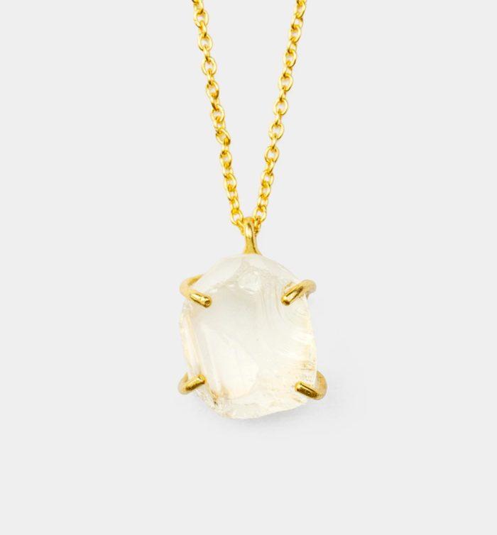 Geburtsstein Kette des Sternzeichen Steinbock mit Bergkristall