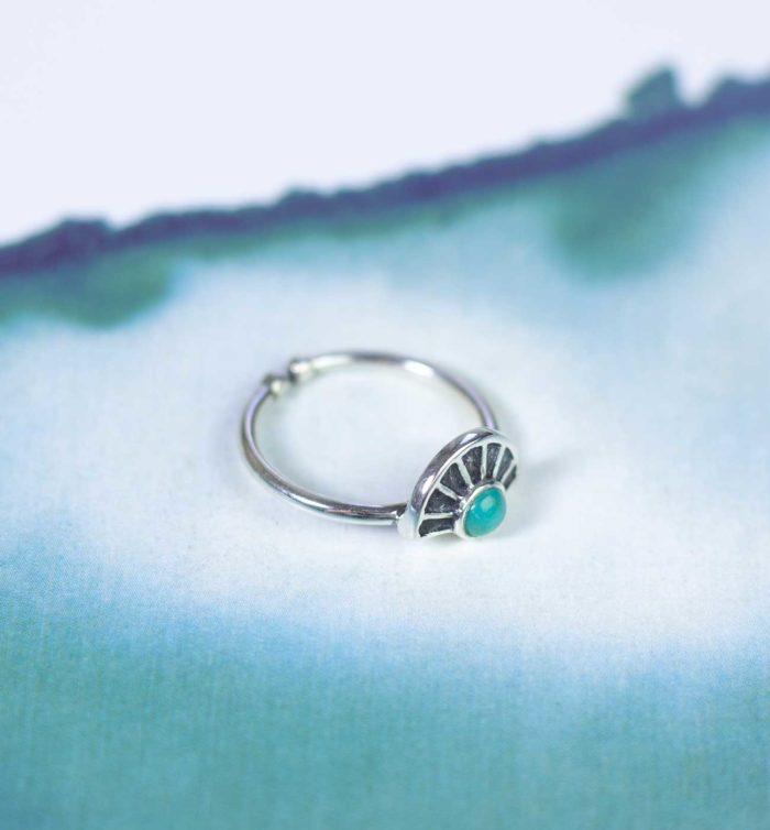 Ring im Bohemian Stil mit Türkis